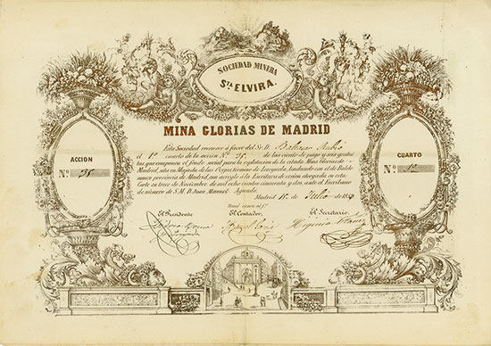 Mina Glorias de Madrid, Sociedad Minera Sta. Elvira