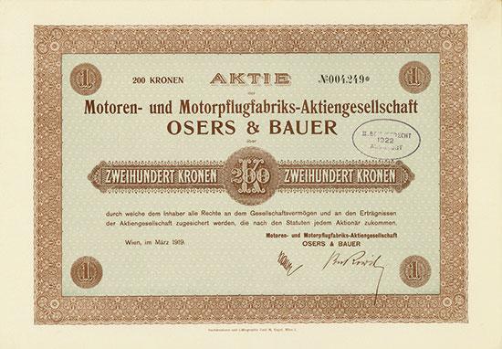 Motoren- und Motorpflugfabriks-AG Osers & Bauer