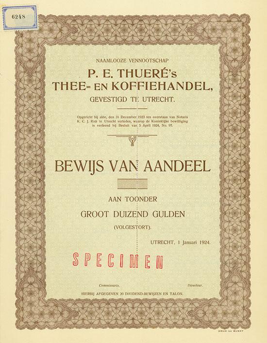 Naamlooze Vennootschap P. E. Thueré's Thee- en Koffiehandel