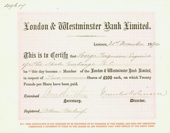 National Westminster Bank (NatWest) und Vorläufer [10 Stück]