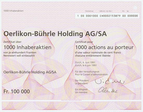Oerlikon-Bührle Holding AG