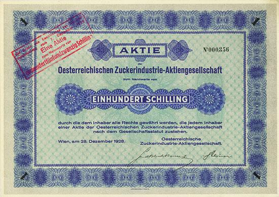 Oesterreichische Zuckerindustrie-AG
