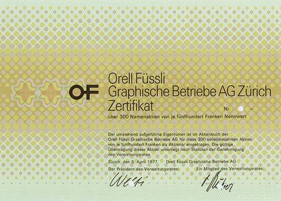 Orell Füssli Graphische Betriebe AG