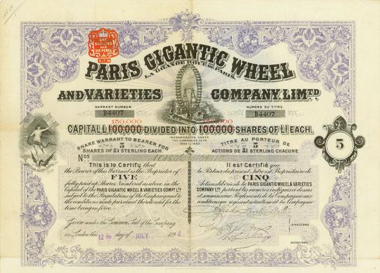 Paris Gigantic Wheel and Varieties Company / La Grande Roue de Paris