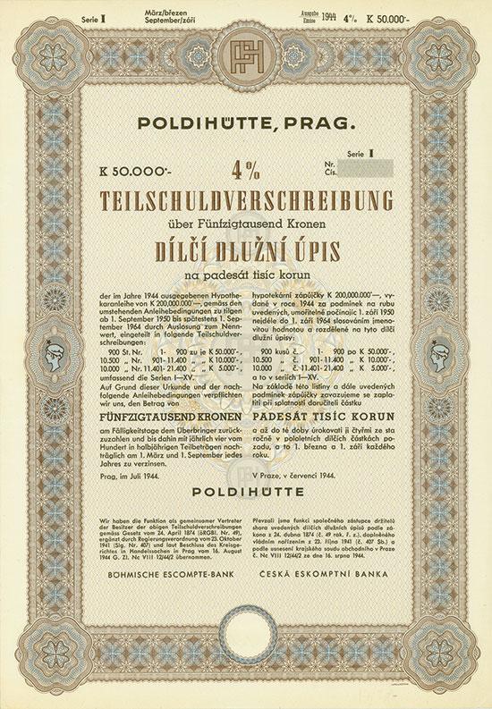 Poldihütte, Prag