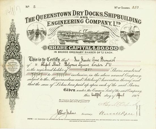 Queenstown Dry Docks, Shipbuilding and Engineering Company, Ltd.