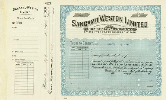 Sangamo Weston Limited