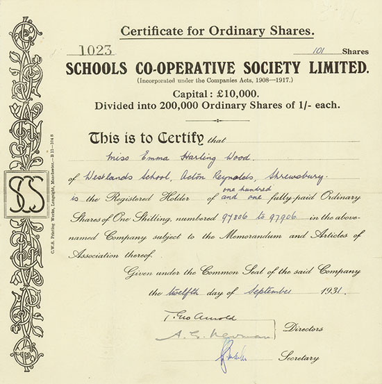 Schools Co-Operative Society Limited