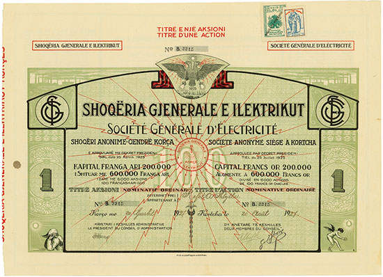 Shoqёria Gjenerale e Ilektrikut / Société Générale d'Èlectricité
