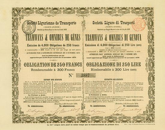 Societá Ligure di Trasporti (Societa Anonima) Tramways & Omnibus di Genova