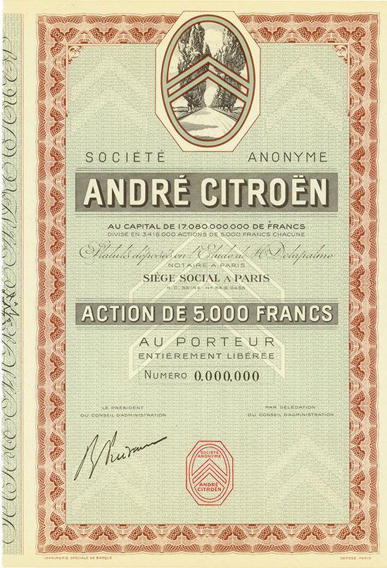 Société Anonyme André Citroën