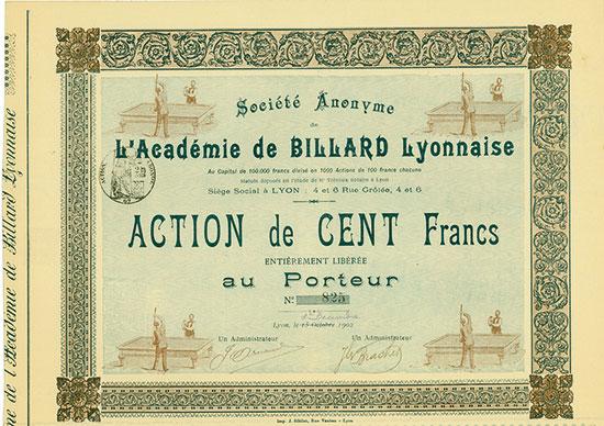 Société Anonyme de l'Académie de Billard Lyonnaise
