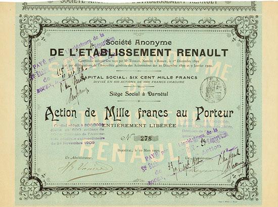 Société Anonyme de l'Etablissement Renault