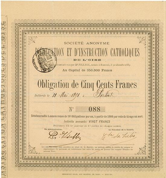 Société Anonyme d'Education et d'Instruction Catholiques de l'Oise