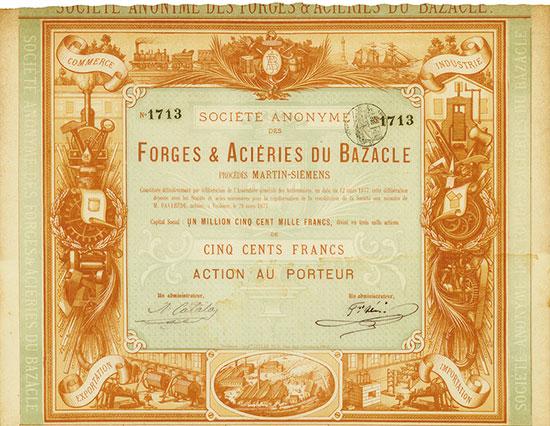 Société Anonyme des Forges & Aciéries du Bazacle Procédés Martin-Siémens