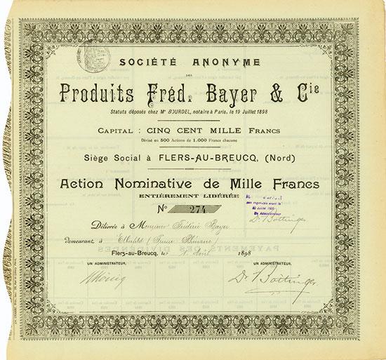 Société Anonyme des Produits Fréd. Bayer & Cie.