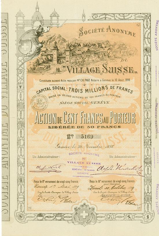 """Société Anonyme du """"Village Suisse"""""""