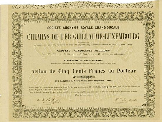 Société Anonyme Royale Grand'Ducale des Chemins de Fer Guillaume-Luxembourg
