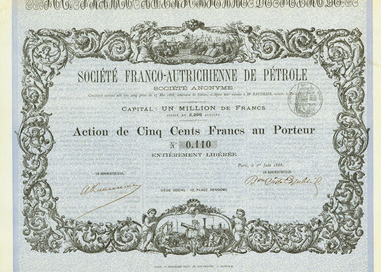 Société Franco-Autrichienne de Pétrole Société Anonyme