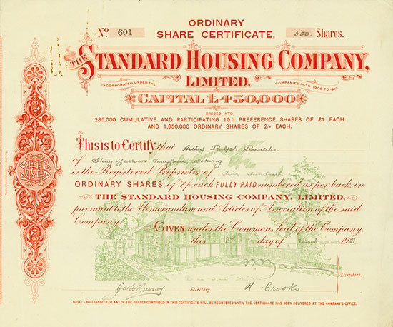 Standard Housing Company, Limited