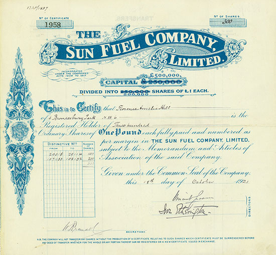 Sun Fuel Company, Limited