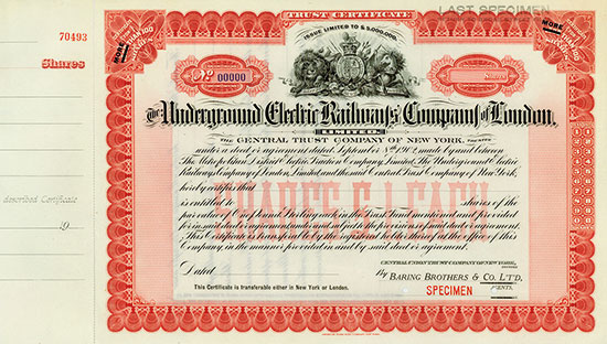 Underground Electric Railways Company of London, Limited