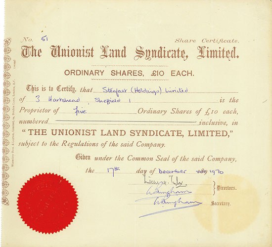 Unionist Land Syndicate, Limited