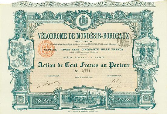 Vélodrome de Mondésir-Bordeaux Société Anonyme