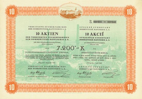 Vereinigte Zuckerfabriken der Dobrowitzer Raffinerie AG
