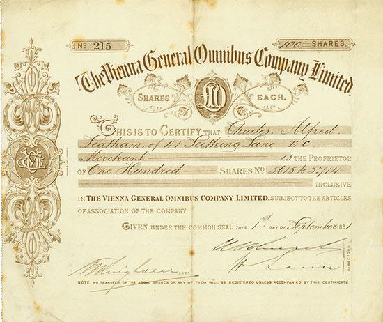 Vienna General Omnibus Company Limited