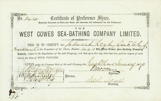 West Cowes Sea-Bathing Company Limited