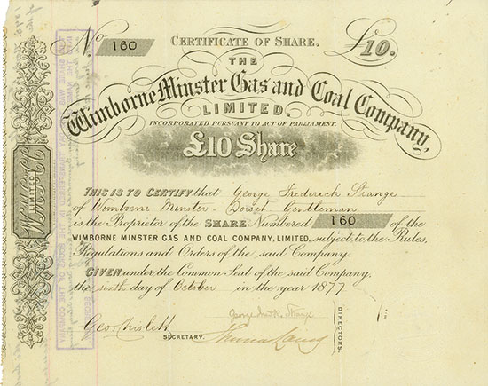 Wimborne Minster Gas and Coal Company, Limited