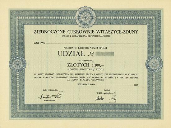 Zjednoczone Cukrownie Witaszyce-Zduny