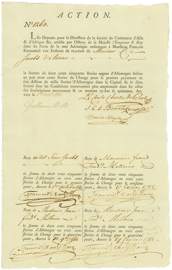 Triester Handels-Compagnie (Société du Commerce d'Asie & d'Afrique &c.)