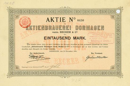 Aktienbrauerei Dormagen vorm. Becker & Cie.