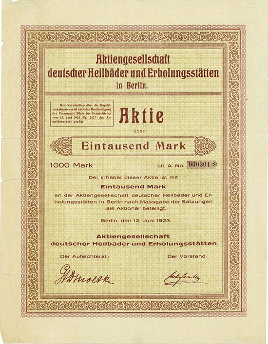 Aktiengesellschaft deutscher Heilbäder und Erholungsstätten