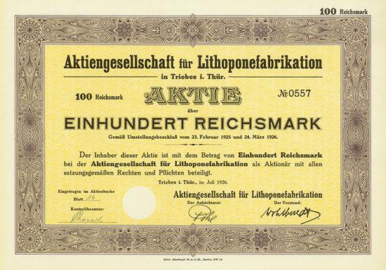 Aktiengesellschaft für Lithoponefabrikation AG