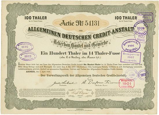 Allgemeine Deutsche Credit-Anstalt für Ackerbau, Handel und Gewerbe