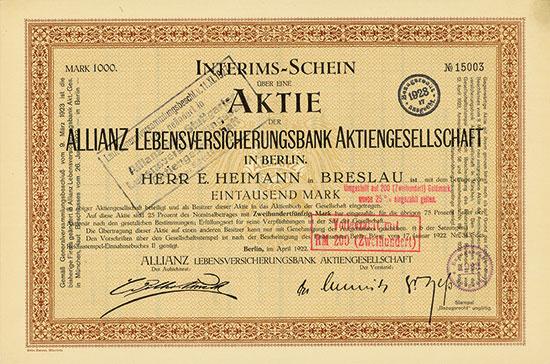 ALLIANZ Lebensversicherungsbank AG