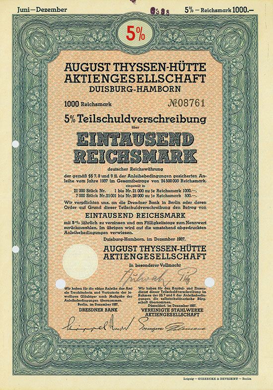 August Thyssen-Hütte AG [2 Stück]