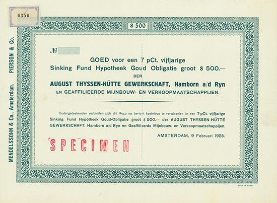 August Thyssen-Hütte Gewerkschaft, Hambron am Rhein [2 Stück]