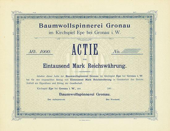 Baumwollspinnerei Gronau