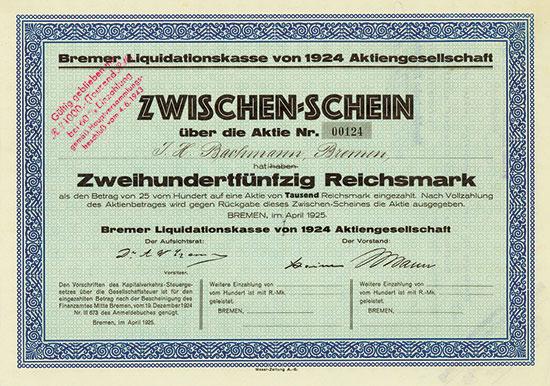 Bremer Liquidationskasse von 1924 AG