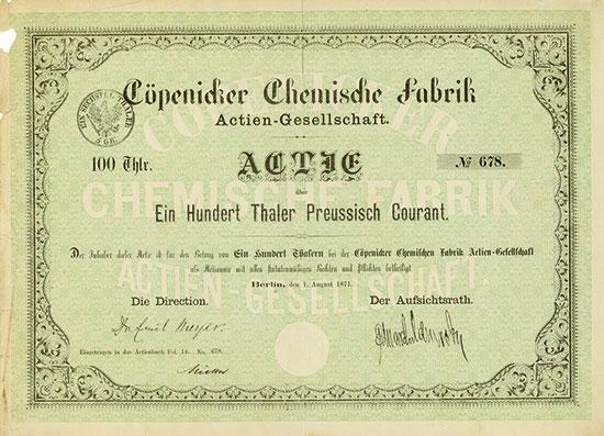 Cöpenicker Chemische Fabrik AG
