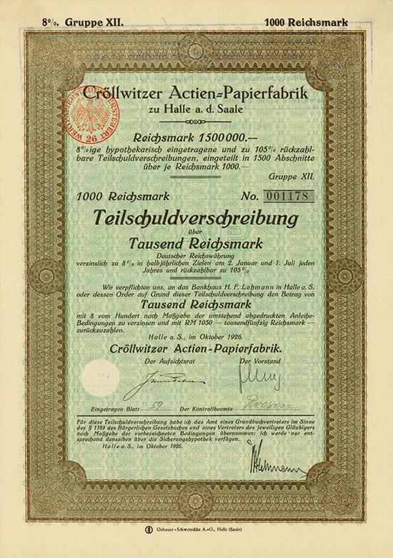 Cröllwitzer Actien-Papierfabrik
