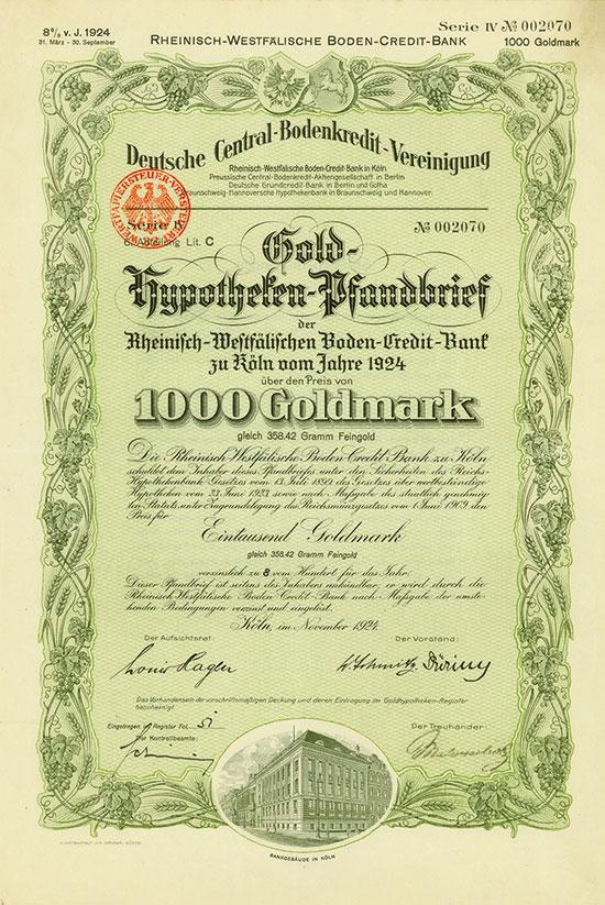 Deutsche Central-Bodenkredit-Vereinigung / Rheinisch-Westfälische Boden-Credit-Bank