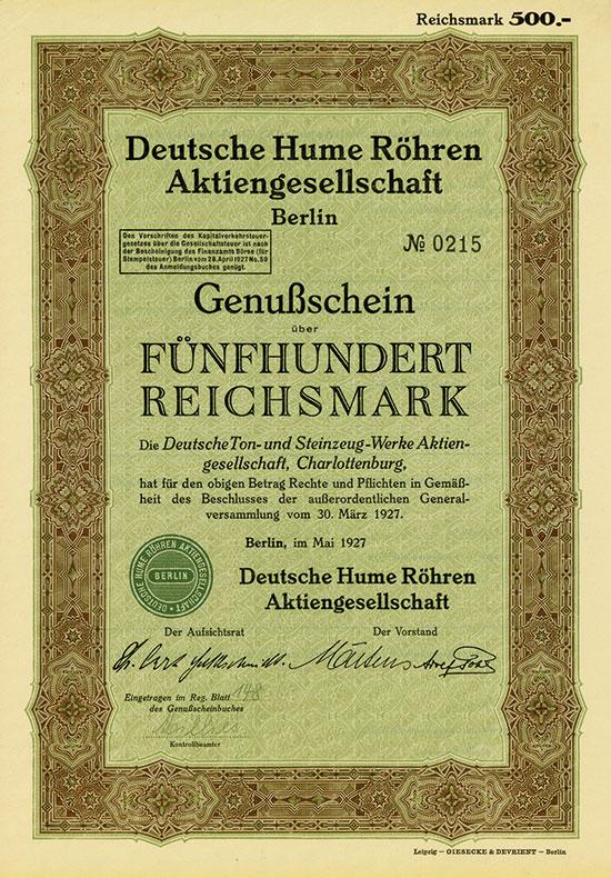 Deutsche Hume Röhren AG