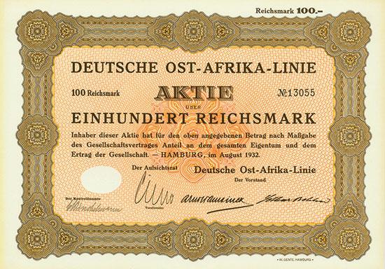 Deutsche Ost-Afrika-Linie [2 Stück]