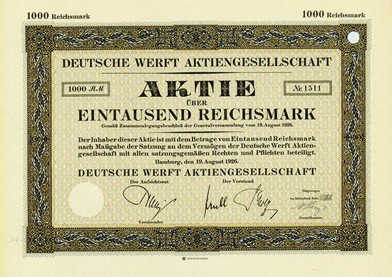 Deutsche Werft AG [3 Stück]