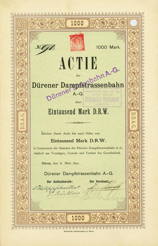 Dürener Dampfstrassenbahn AG